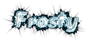 Font Brush Stroke Frosty Logo Preview