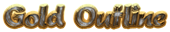 Font Brush Stroke Gold Outline Logo Preview