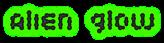 Font Candybar Alien Glow Logo Preview