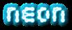 Font Candybar Neon Logo Preview