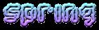 Font Candybar Spring Logo Preview