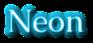 Font Caudex Neon Logo Preview
