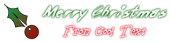 Font ChickenScratch Christmas Symbol Logo Preview