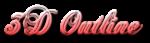 Font Chopin Script 3D Outline Gradient Logo Preview