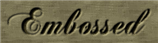 Font Chopin Script Embossed Logo Preview