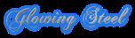 Font Chopin Script Glowing Steel Logo Preview