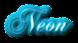 Font Chopin Script Neon Logo Preview