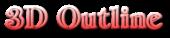 Font Classic Heavy Light 3D Outline Gradient Logo Preview