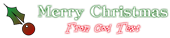Font Classic Heavy Light Christmas Symbol Logo Preview