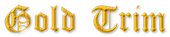 Font Cloister Black Gold Trim Logo Preview