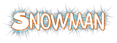 Font Comics Cartoon Snowman Logo Preview
