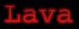 Font Courier Lava Logo Preview