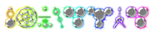 Font CropBats Chromium Logo Preview