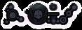 Font CropBats Dark Logo Preview