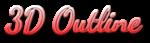 Font Dancing Script OT 3D Outline Gradient Logo Preview