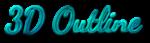 Font Dancing Script OT 3D Outline Textured Logo Preview