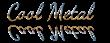Font Dancing Script OT Cool Metal Logo Preview