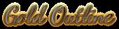 Font Dancing Script OT Gold Outline Logo Preview