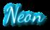 Font Dancing Script OT Neon Logo Preview