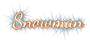 Font Dancing Script OT Snowman Logo Preview