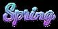 Font Dancing Script OT Spring Logo Preview