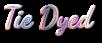Font Dancing Script OT Tie Dyed Logo Preview