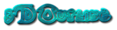 Font Dark Crystal Outline 3D Outline Textured Logo Preview