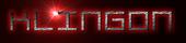 Font De Stijl Klingon Logo Preview