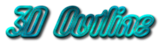 Font Digital Surf 3D Outline Textured Logo Preview