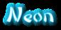 Font DomoAregato Neon Logo Preview