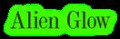 Font DubielPlain Alien Glow Logo Preview