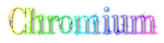 Font DubielPlain Chromium Logo Preview