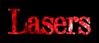 Font DubielPlain Lasers Logo Preview