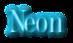 Font DubielPlain Neon Logo Preview
