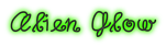 Font DuckyCowgrrrl Alien Glow Logo Preview