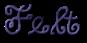 Font DuckyCowgrrrl Felt Logo Preview