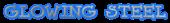 Font Dummies Glowing Steel Logo Preview