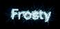 Font Dustismo Roman Frosty Logo Preview
