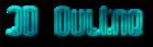 Font Dystorque 3D Outline Textured Logo Preview