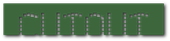 Font Exit font Cutout Logo Preview