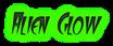 Font FangsSCapsSSK Alien Glow Logo Preview