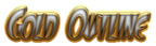 Font FangsSCapsSSK Gold Outline Logo Preview