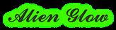Font Ford script Alien Glow Logo Preview