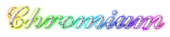 Font Ford script Chromium Logo Preview