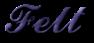 Font Ford script Felt Logo Preview
