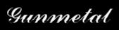 Font Ford script Gunmetal Logo Preview