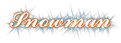 Font Ford script Snowman Logo Preview