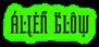Font ForeignSheetMetal Alien Glow Logo Preview