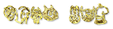 Font Fred Gold Bar Logo Preview