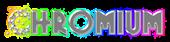 Font Glitter Font Chromium Logo Preview